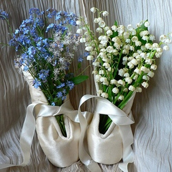 Пазл онлайн: Цветы для балерины