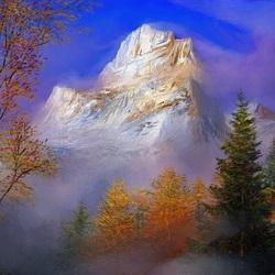 Пазл онлайн: Горы в облаках