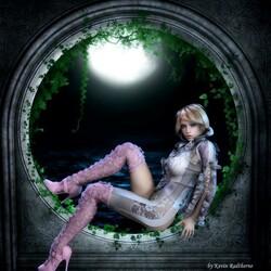 Пазл онлайн: Лунный свет