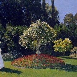 Пазл онлайн: Женщина в саду