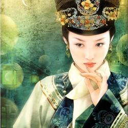 Пазл онлайн: Китайская девушка