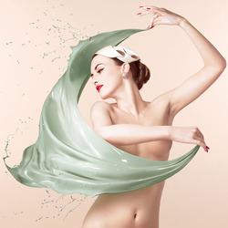 Пазл онлайн: Красочная шаль
