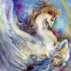 Пазл онлайн: Крылатый конь Акбузат