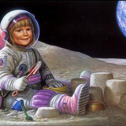 Пазл онлайн: Лунная песочница