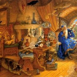 Пазл онлайн: Мерлин и Артур