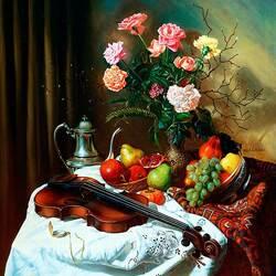 Пазл онлайн: Цветы и музыка