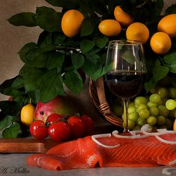 Пазл онлайн: To Prepare a Salmon/Подготовка лосося