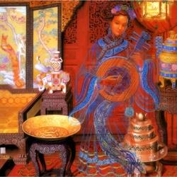 Пазл онлайн: Movement the Yueqin / Музыка Лунной гитары.