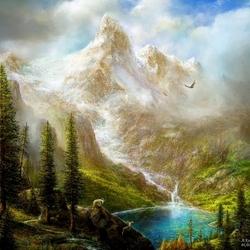 Пазл онлайн: Среди гор
