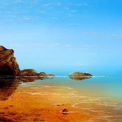 Пазл онлайн: Берег моря золотой
