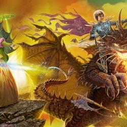 Пазл онлайн: Алиса и дракон