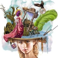 Пазл онлайн: Волшебная шляпка