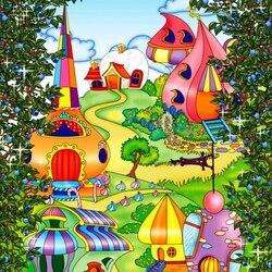 Пазл онлайн: Сказочные домики