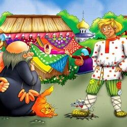 Пазл онлайн: Сказка о Попе и работнике его Балде