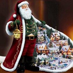 Пазл онлайн: Санта Клаус