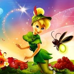 Пазл онлайн: Фея Динь-Динь и ее друг светлячок