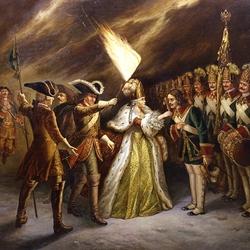 Пазл онлайн: Присяга Преображенского полка императрице Елизавете Петровне