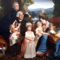 Пазл онлайн: Портрет семьи Копли