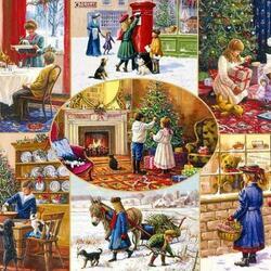Пазл онлайн: Рождественские пожелания