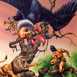 Пазл онлайн: Доисторическое сражение
