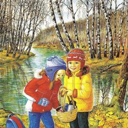 Пазл онлайн: Осенний пикник