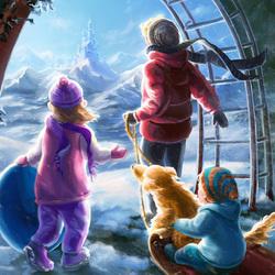 Пазл онлайн: По другую сторону зимы