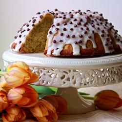 Пазл онлайн: Апельсиновый кекс с маком