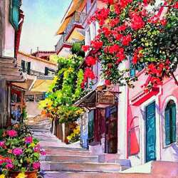 Пазл онлайн: Греческие острова. Парга