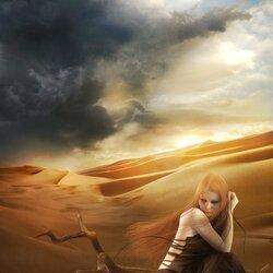 Пазл онлайн: Потерянная в пустыне