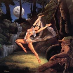 Пазл онлайн: Танец в лунном свете
