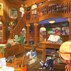 Пазл онлайн: В библиотеке