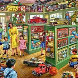 Пазл онлайн: В магазине игрушек
