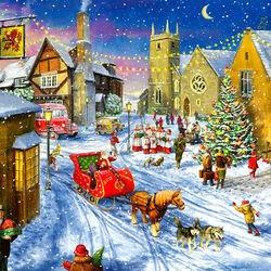 Пазл онлайн: Санта приехал