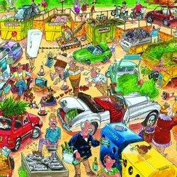 Пазл онлайн: Сортировка мусора