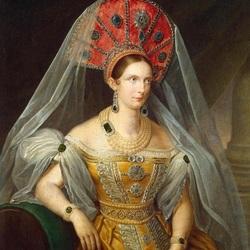 Пазл онлайн: Портрет императрицы Александры Федоровны