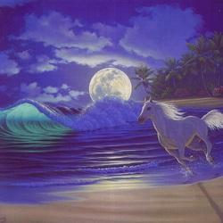 Пазл онлайн: Лунный закат