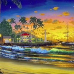 Пазл онлайн: Вечерний берег