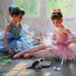 Пазл онлайн: Юные балерины