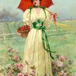 Пазл онлайн: Урожай черешни