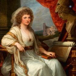 Пазл онлайн: Портрет Анны Амалии, герцогини Саксен-Веймар-Эйзенахской
