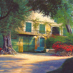 Пазл онлайн: Дом Ренуара