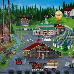 Пазл онлайн: Домашняя ферма