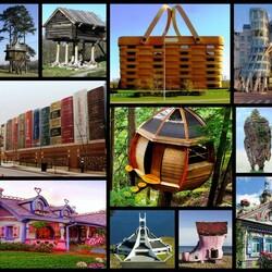 Пазл онлайн: Необычные дома