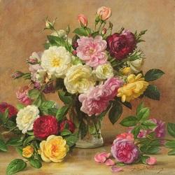 Пазл онлайн: Английские розы