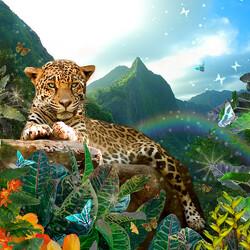 Пазл онлайн: Маленький ягуар
