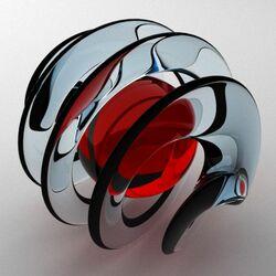 Пазл онлайн: Спиралевидный шар