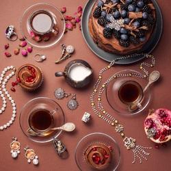 Пазл онлайн: Ювелирное чаепитие