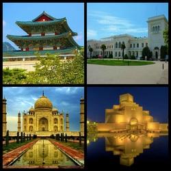 Пазл онлайн: Музеи стран мира