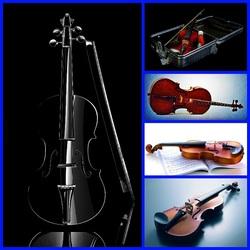 Пазл онлайн: Скрипки