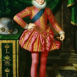 Пазл онлайн: Портрет молодого Людовика XIII